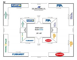 WIMTS Booth #1036 Layout